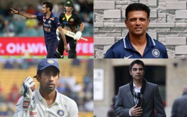 Yuzvendra Chahal, Rahul Dravid, Wridhimann Saha, and Salman Butt