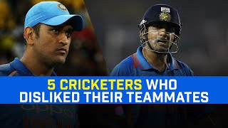 5 Cricketers Who Disliked Their Teammates For Various Reasons | MS Dhoni - Gautam Gambhir |
