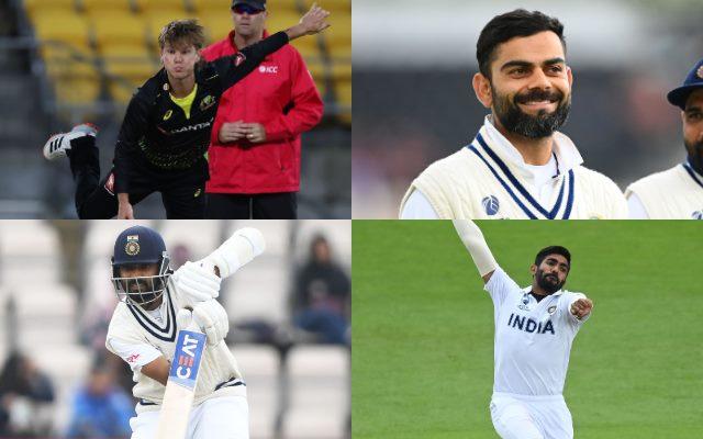 Adam Zampa, Jasprit Bumrah, Virat Kohli, Ajinkya Rahane