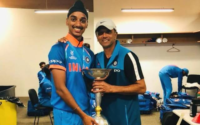 Arshdeep Singh and Rahul Dravid