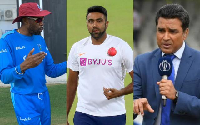 Curtly Ambrose, Ravichandran Ashwin and Sanjay Manjrekar