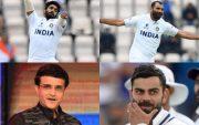 Jasprit Bumrah, Mohammed Shami, Sourav Ganguly, Virat Kohli