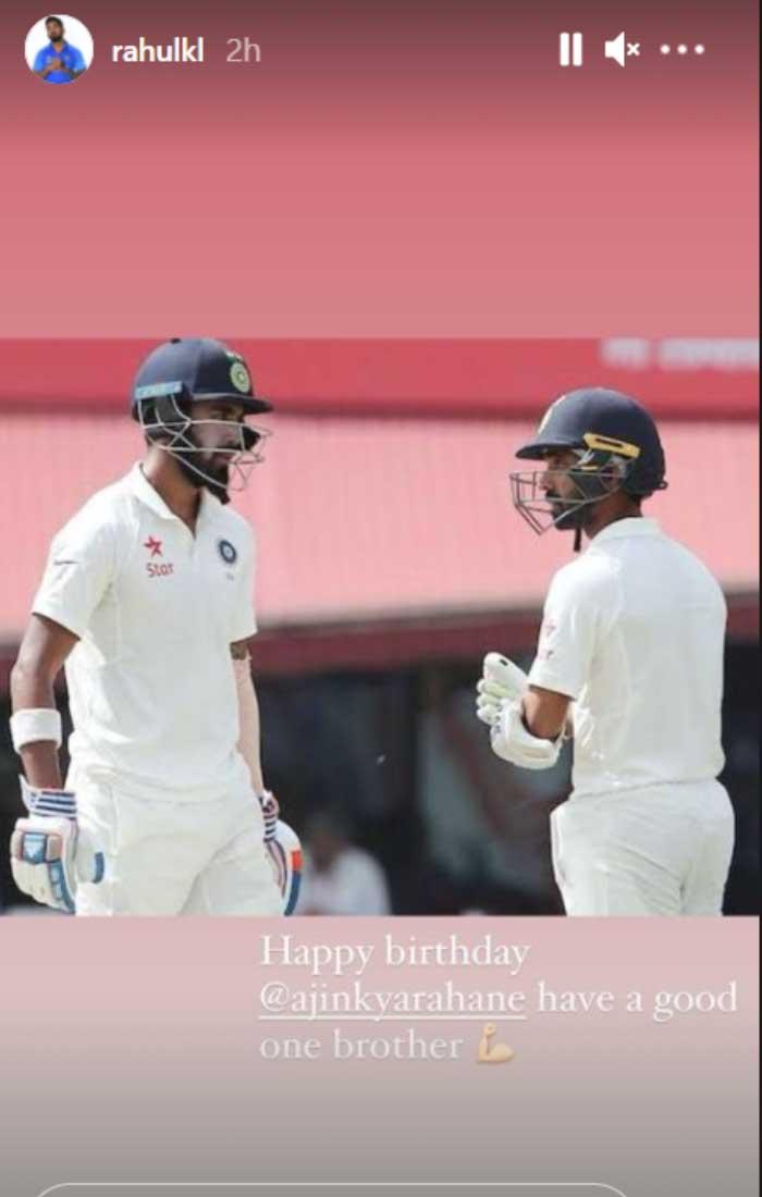 KL Rahul's instagram story