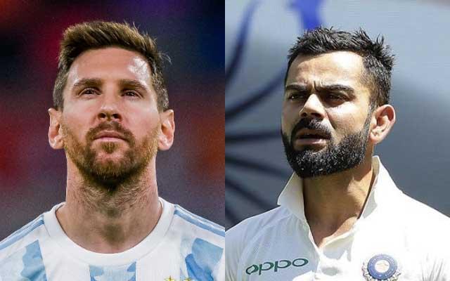 Lionel Messi and Virat Kohli