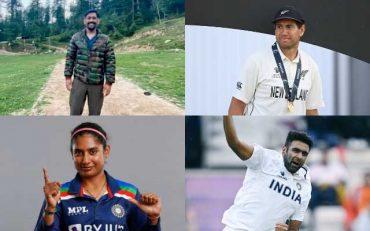 MS Dhoni, Ross Taylor, Mithali Raj, Ravichandran Ashwin