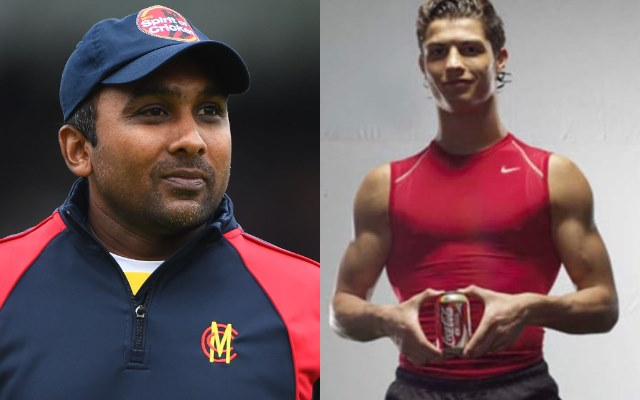 Mahela Jayawardene and Cristiano Ronaldo