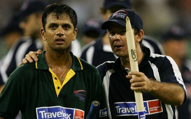 Rahul Dravid and Ricky Ponting
