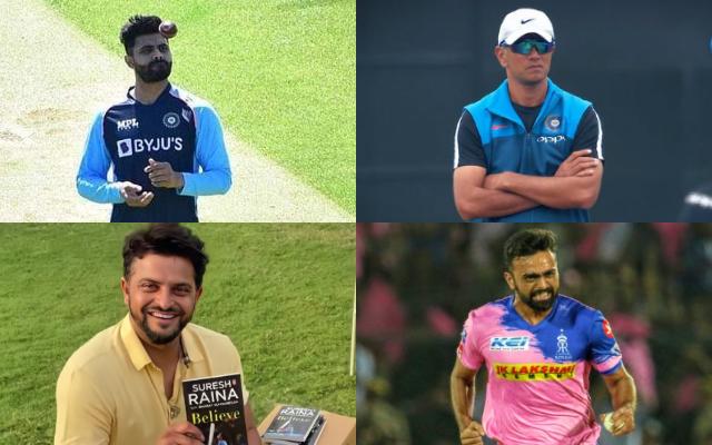 Ravindra Jadeja, Rahul Dravid, Suresh Raina, Jaydev Unadkat