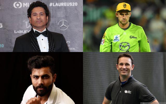 Sachin Tendulkar, Alex Hales, Ravindra Jadeja, Shane Bond