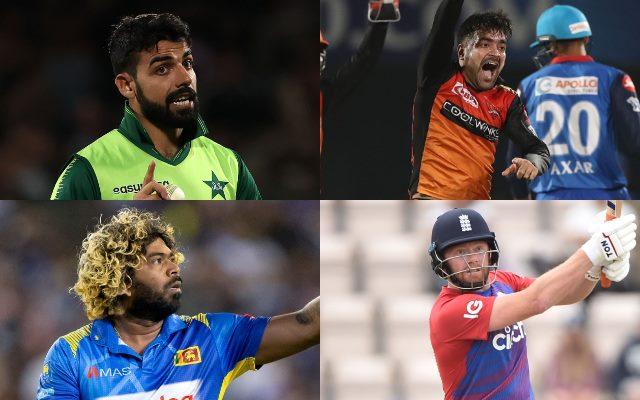Shadab Khan, Rashid Khan, Lasith Malinga, Jonny Bairstow