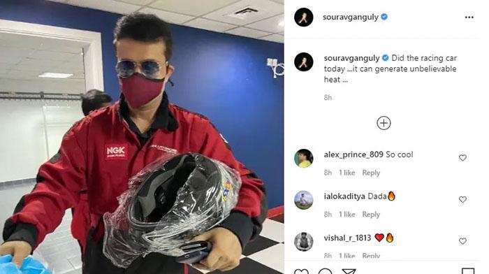 Sourav Ganguly Instagram post