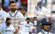 Virat Kohli, Ajinkya Rahane, Rishabh Pant, Ravichandran Ashwin and Shubman Gill