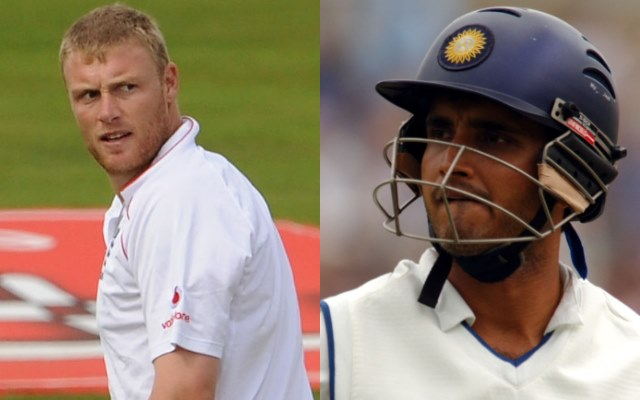 Andrew Flintoff and Sourav Ganguly