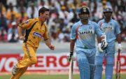 Brad Hogg and Sachin Tendulkar