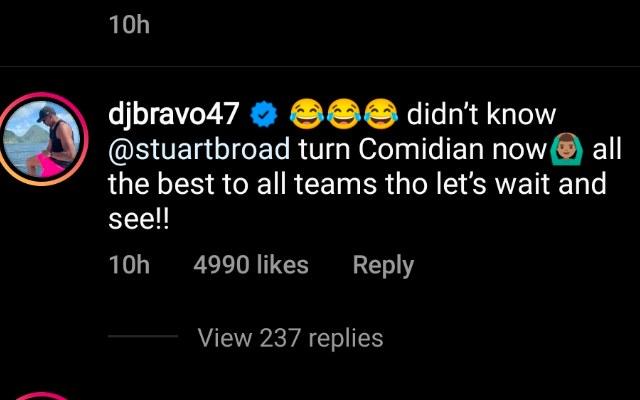 Dwayne Bravo comment