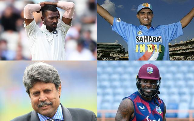 Hardik Pandya, Sourav Ganguly, Kapil Dev, Chris Gayle