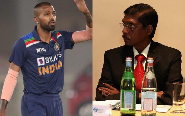 Hardik Pandya and Laxman Sivaramakrishnan