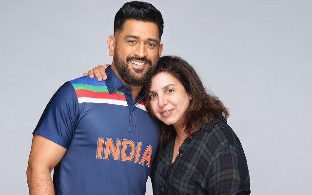 MS Dhoni and Farah Khan
