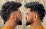 MS Dhoni's new hairstyle