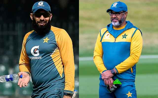 Misbah Ul Haq and Waqar Younis