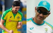 Mitchell Starc and Justin Langer