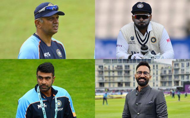 Rahul Dravid, Rishabh Pant, Ravichandran Ashwin, Dinesh Karthik