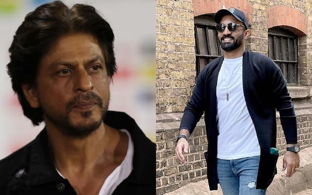 Shah Rukh Khan and Dinesh Karthik