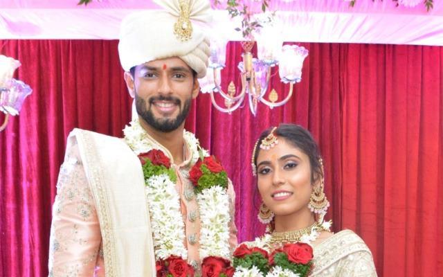 Shivam Dube and his wife