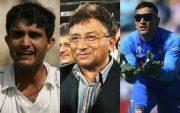 Sourav Ganguly, Pervez Musharraf and MS Dhoni