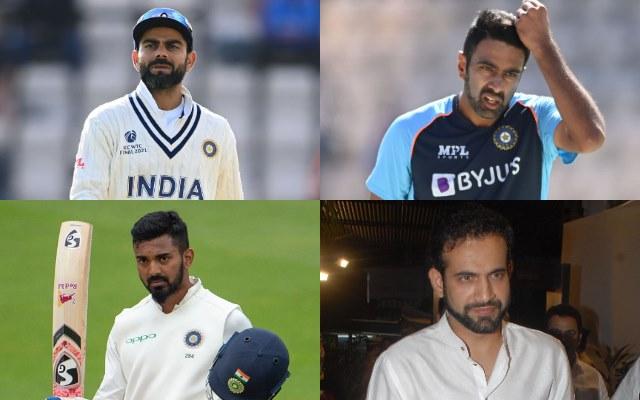 Virat Kohli, Ravichandran Ashwin, Irfan Pathan, KL Rahul