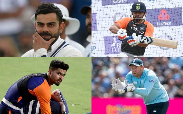 Virat Kohli, Suresh Raina, Shreyas Iyer, Jonny Bairstow