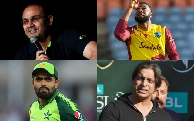 Virender Sehwag, Kieron Pollard, Babar Azam, Shoaib Akhtar