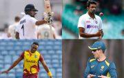KL Rahul, Ravichandran Ashwin, Dwayne Bravo and Tim Paine
