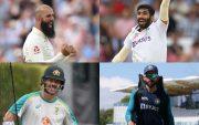 Moeen Ali, Jasprit Bumrah, David Warner, Virat Kohli