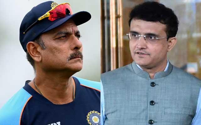 Ravi Shastri and Sourav Ganguly