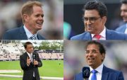Shaun Pollock, Sanjay Manjrekar, Sunil Gavaskar. Harsha Bhogle