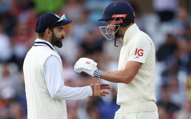 Virat Kohli and James Anderson