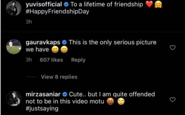 Yuvraj Singh and Sania Mirza Converstatio