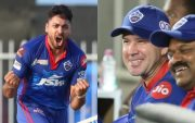 Avesh Khan and Ricky Ponting