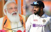 Indian Prime Minister Narendra Modi and Virat Kohli