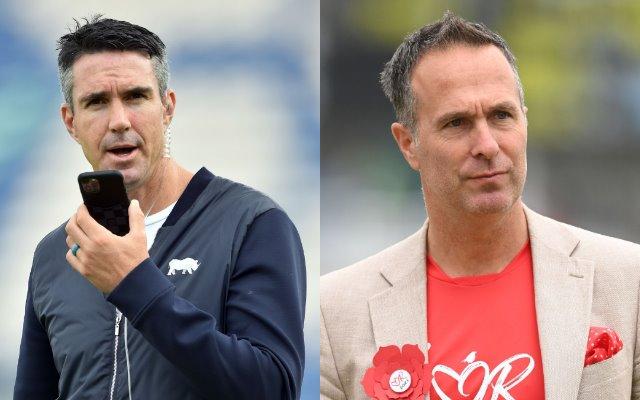 Kevin Pietersen and Michael Vaughan