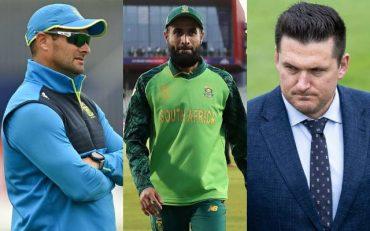 Mark Boucher, Imran Tahir and Graeme Smith