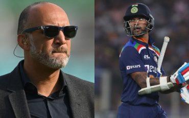 Mark Butcher and Shikhar Dhawan.