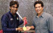 Pramod Bhagat and Sachin Tendulkar