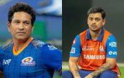Sachin Tendulkar and Ishan Kishan