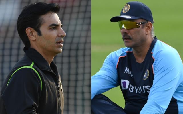Salman Butt and Indian Head Coach Ravi Shastri
