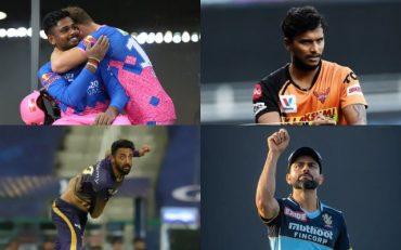 Sanju Samson, T Natarajan, Varun Chakravarthy and Virat Kohli