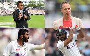 Sunil Gavaskar, Michael Vaughan, Jasprit Bumrah, Rohit Sharma