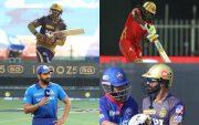 Venkatesh Iyer, Chris Gayle, Rohit Sharma, Dinesh Karthik