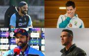 Virat Kohli, Tim Paine, Kevin Pietersen, and Rohit Sharma